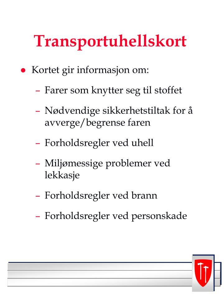 Transportuhellskort