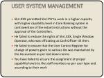 user system management
