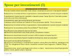 spese per investimenti 1
