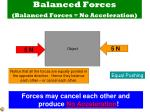 balanced forces balanced forces no acceleration
