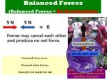 balanced forces balanced forces no acceleration1