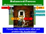 balanced forces balanced forces no acceleration2