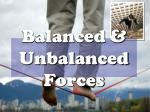 balanced unbalanced forces