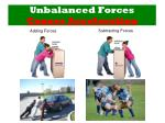 unbalanced forces causes acceleration