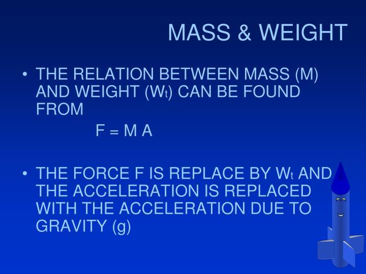 MASS & WEIGHT