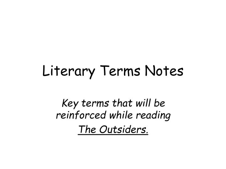 literary terms notes n.
