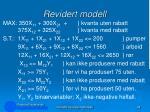 revidert modell