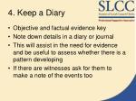 4 keep a diary