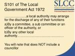 s101 of the local government act 1972