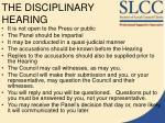 the disciplinary hearing