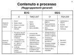 contenuto e processo raggruppamenti generali