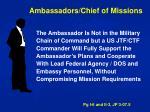 ambassadors chief of missions