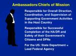 ambassadors chiefs of mission