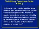 civil military operations center cmoc