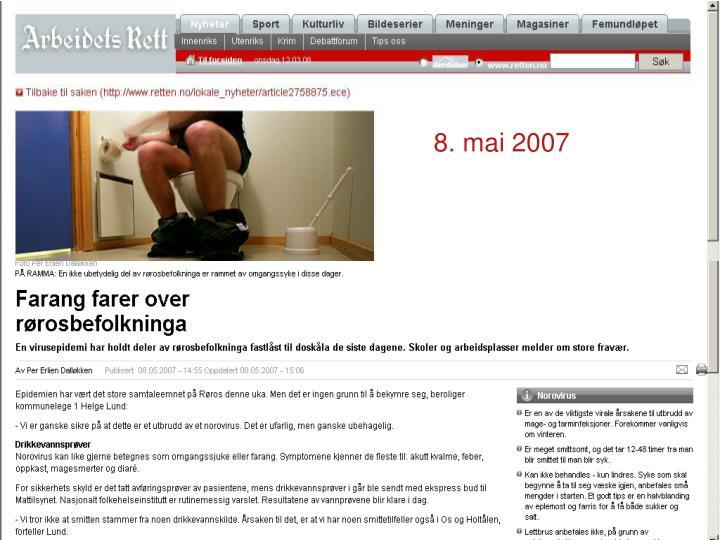 8 mai 2007