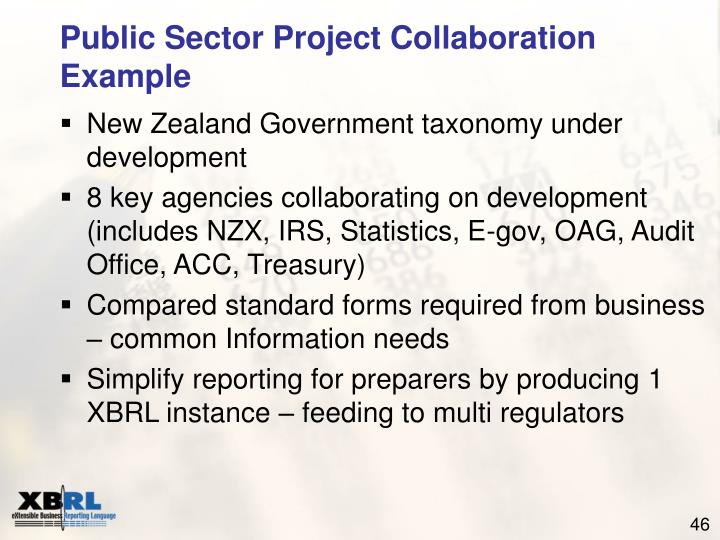 Public Sector Project Collaboration Example