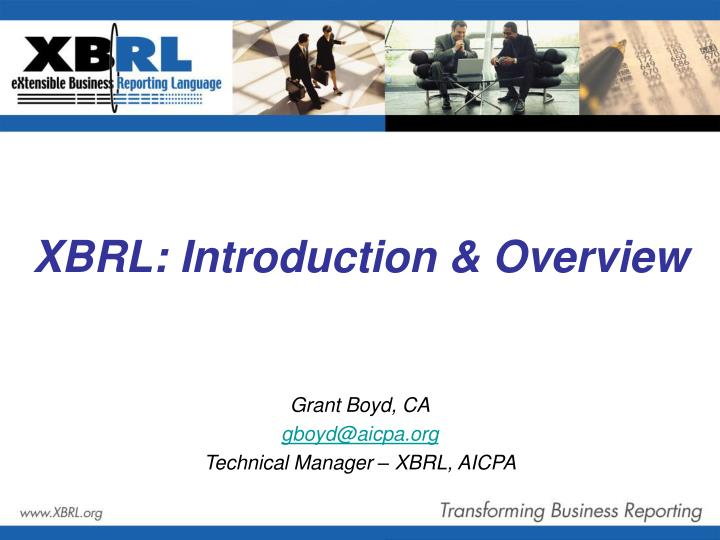 Xbrl introduction overview