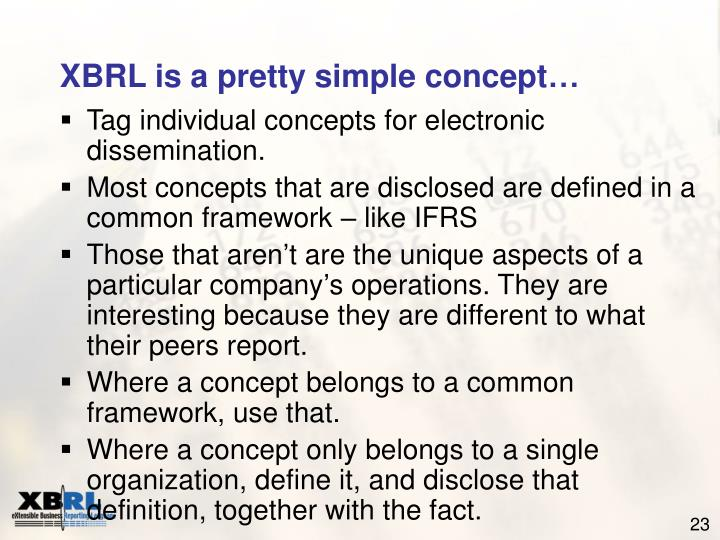 XBRL is a pretty simple concept…