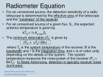 radiometer equation