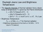 rayleigh jeans law and brightness temperature