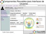 componentes reusables para interfaces de usuarios