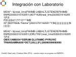 integraci n con laboratorio