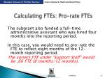 calculating ftes pro rate ftes