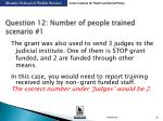 question 12 number of people trained scenario 1