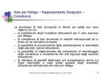 voto per delega rappresentante designato compliance
