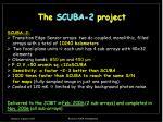 the scuba 2 project