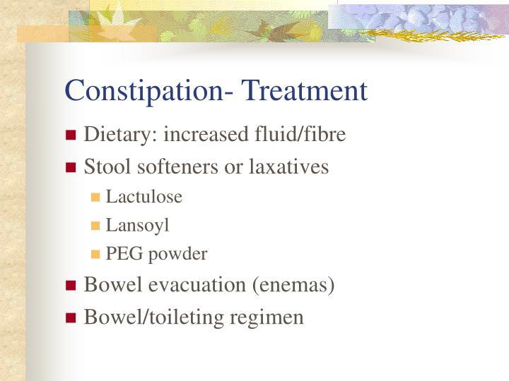 Constipation- Treatment