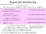 regole per interleaving
