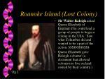 roanoke island lost colony