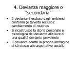 4 devianza maggiore o secondaria
