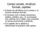 campo sociale strutture formali capitale