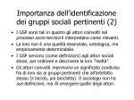 importanza dell identificazione dei gruppi sociali pertinenti 2