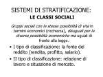 sistemi di stratificazione le classi sociali