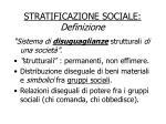 stratificazione sociale definizione