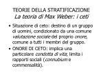 teorie della stratificazione la teoria di max weber i ceti