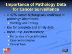 importance of pathology data for cancer surveillance