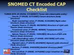 snomed ct encoded cap checklist