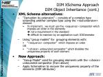 dim xschema approach dim object inheritance cont