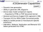 icsgenerator capabilities cont