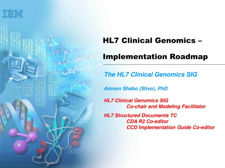 hl7 clinical genomics implementation roadmap n.