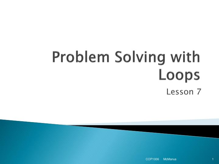 problem solving with loops n.
