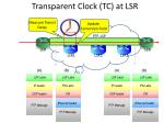 transparent clock tc at lsr