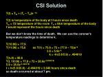 csi solution