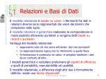 relazioni e basi di dati