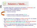 relazioni e tabelle