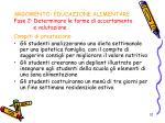 argomento educazione alimentare fase 2 determinare le forme di accertamento e valutazione